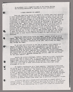 Amherst College faculty meeting minutes and Committe of Six meeting minutes 1956/1957