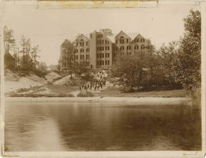 Administration Building from Massasoit Lake, c. 1896