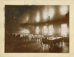 Springfield College Dining Room, 1896