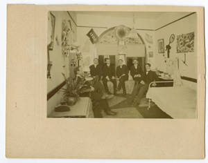 Hollow Belly Boarding Club in Walter Saunders' Dorm Room, c. 1898