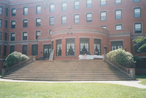 Alumni Hall and MacLean Terrace, July 2001