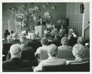 Dr. Charles Weckwerth Giving Gulick Hall Dedication Speech, May 29, 1970