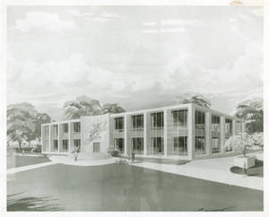 Architectural Sketch of Woods Hall, c. 1957