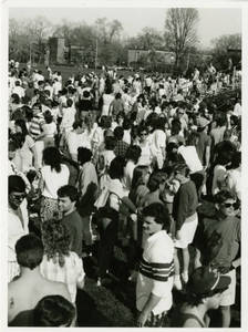 Students on Blake Field during Sti-Yu-Ka (1987)