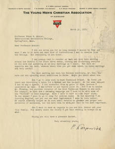 Letter from Peter Karpovich to Frank M. Mohler, March 30, 1925