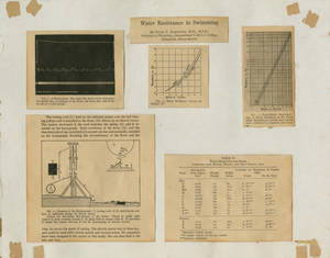 Water Resistance in Swimming, materials from experiments by Dr. Peter V. Karpovich