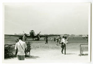 Airport in Tunis during the Harlem Globetrotters 1952 World Tour