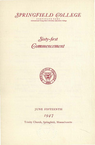 Commencement Program (1947)