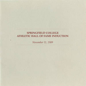 Springfield College Athletic Hall of Fame Induction Brochure (1989)