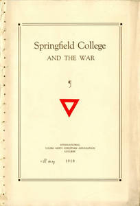Springfield College and the War, 1918