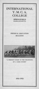 Physical Education Bulletin (1931-1932)