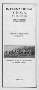 Physical Education Bulletin (1933-1934)