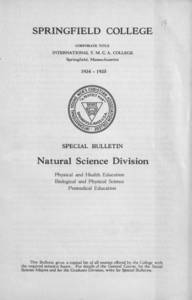 Natural Science Division Bulletin (1934-1935)
