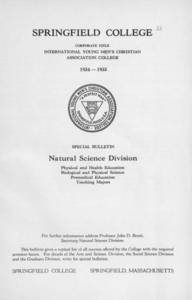 Natural Science Division Bulletin - Teaching Majors (1934-1935)