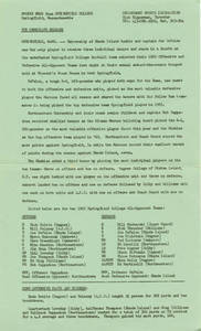 Springfield College Sports News Release, 1965