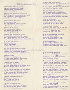 1963 Football Banquet Poem