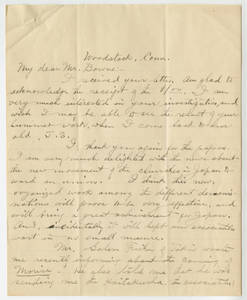 Undated Letter from Hyozo Omori to Jacob T. Bowne