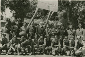 Dr. Doggett with Greek A.A.U. (S.E.G.A.S.) Basketball Championship Teams, May 3rd, 1937