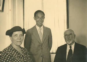 Dr. and Mrs. Doggett with Shunichi, Ishiwatari, October 2, 1936
