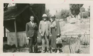 Dr. and Mrs. Doggett with Dr. Kidess by the Oak of Mamre, ca. 1936