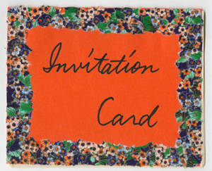 Invitation Card (1990) to Kenneth Wall