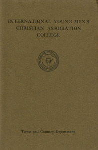 International YMCA Training School town and country course pamphlet (1930)