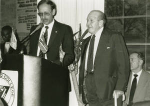 Dr. Wall Speaking at International Center 25th Anniversary (1990)