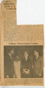 International Center at Springfield College is Dedicated, Oct. 31, 1965