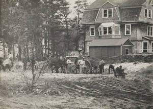 Breaking the ground by the Gulick's House