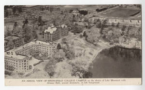 An aerial view of Springfield College Campus