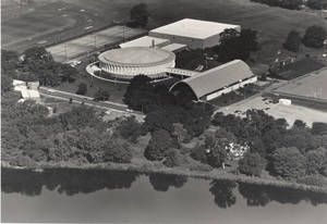 Aerial photograph of campus, 1985