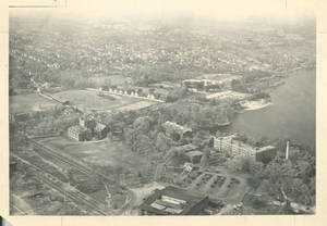 An aerial view of Springfield College