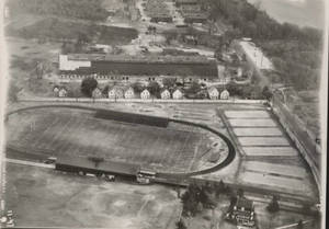 Aerial view of Springfield College Athletic Fields
