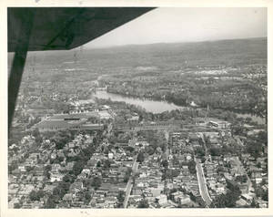 An airplane view of Springfield College, 1946