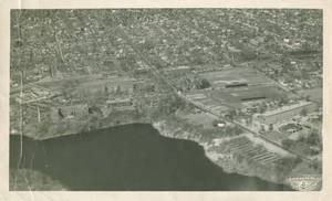 Aerial photograph of Springfield College, 1948