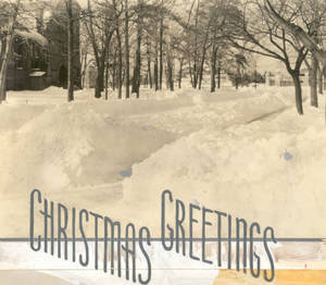 """Christmas Greetings,"" Springfield College Campus, ca. 1950-1960"