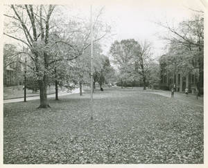 A fall shot of Springfield College Campus, ca. 1955