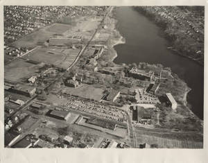 Aerial photograph of Springfield College, Nov. 12, 1962