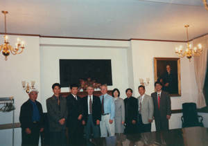 Visitors from Sun Yat-sen University in Springfield College President's office (2000)