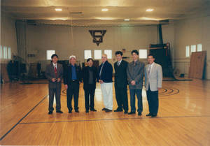 Visitors from Sun Yat-sen University in Judd's Gymnasia (2000)