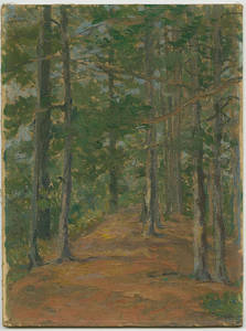 East Campus Woods painting