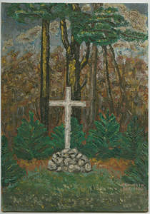Cross oil painting by Dr. Charles F. Weckwerth (1936-12)