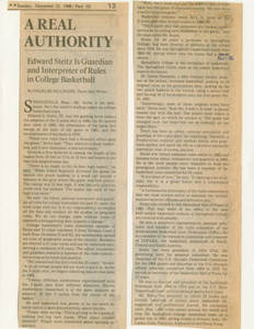 A Real Authority, December 25, 1988