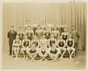 The 1928 Springfield College Swimming and Diving team