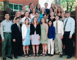 The 2000-2001 Springfield College Women's Swimming and Diving Team