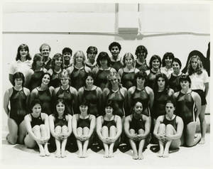 The 1983-1984 Springfield College Women's Swimming and Diving team