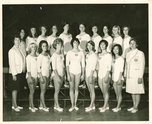 The 1967-68 SC Women's Gymnastics Team
