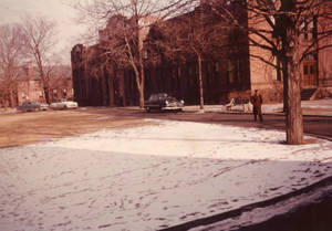 Alumni and Woods Hall, ca. 1955