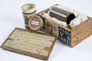 The George Williams' wax cylinder and shipping container