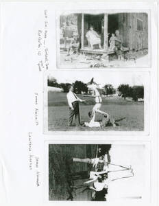 Copies of three photographs of Dr. James Naismith and Family